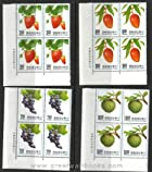 Taiwan Stamps : 1991 Fruits, Scott # 2802-5 Block of 4 complete sets, MNH-F-VF (Free Shipping by Great Wall Bookstore)