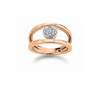 Viventy Women's Ring w.57Silver Rose Gold Cubic Zirconia 775551/57