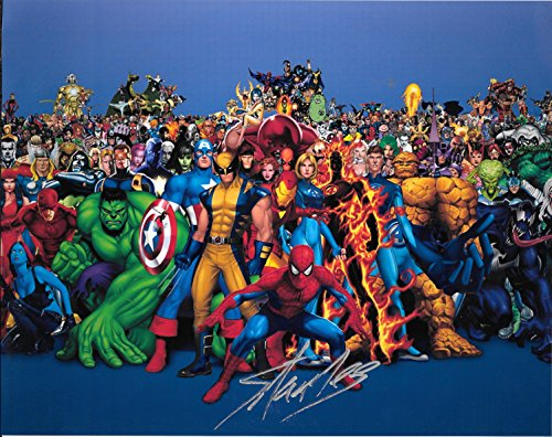 Stan Lee creator of Marvel Comics Signed Autographed 8 X 10 Reprint Photo Spiderman Ironman The HUlk- Mint Condition