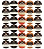 New! 30 K-cup Peets Coffee Sampler Variety Pack *No Decaf* (2014 Brazil Minas Naturais, Cafe Domingo, House Blend, Major Dickasons, French Roast)
