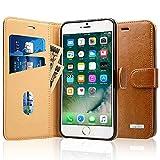 Labato iPhone 7 Plus ケース 手帳型 本革レザー アイフォン7プラス カバー TPU 財布型 スタンド機能 カードポケット 手作り ハンドメイド 耐摩擦 耐汚れ 全面保護 フリップ 人気 全四色 (ブラウン lbt-I7L-02Z20)