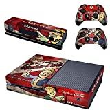 CloudSmart Vault Boy Approved Skin Sticker of Fallout 4 for the Xbox One Console With Two Wireless Controller Decals - Nuka Cola
