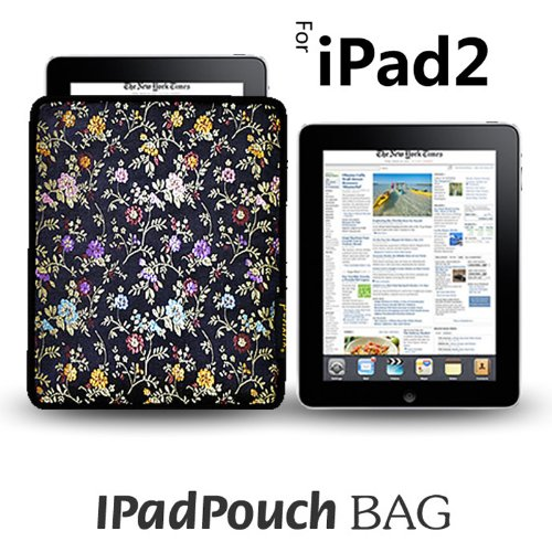 PC MAMA Limited Edition iPad 2 Protective Sleeve Pouch Combines Patent BTM and Bayer Technology - Silk Flower Print