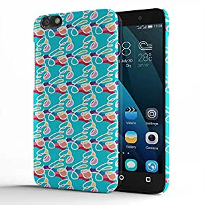 Koveru Designer Printed Protective Snap-On Durable Plastic Back Shell Case Cover for Huawei Honor 4X - Capricorn