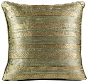 Blanket America Bronze Leaf 16-Inch by 16-Inch Square Pillow