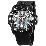 Luminox Navy Seal Colormark 3050 Silver Dial Silicone Strap Men's Watch 305725TH (Color: Silver)