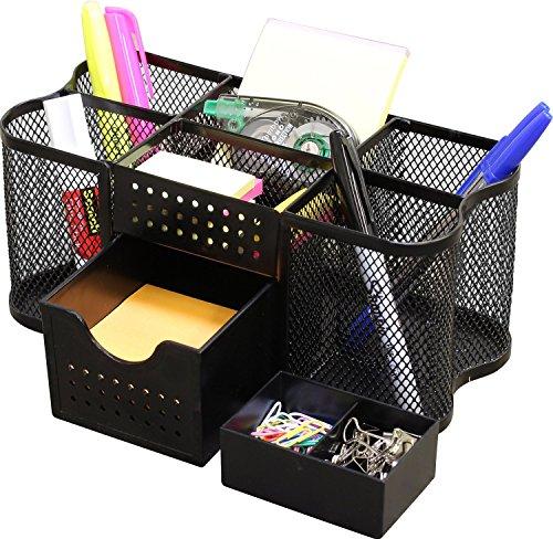 DecoBros Desk Supplies Organizer Caddy, Black (Paper Clip Holder compare prices)