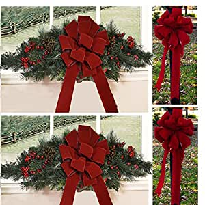 Designer Holiday Door Wreath Or Mailbox Swag: designer christmas wreaths uk