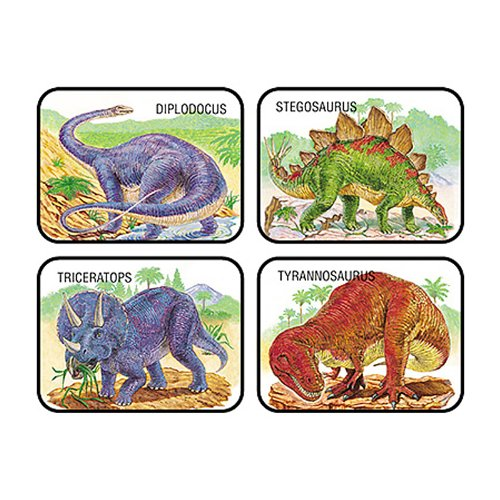 Dinosaurs Stickers 5 sheets of 20 stickers - 1