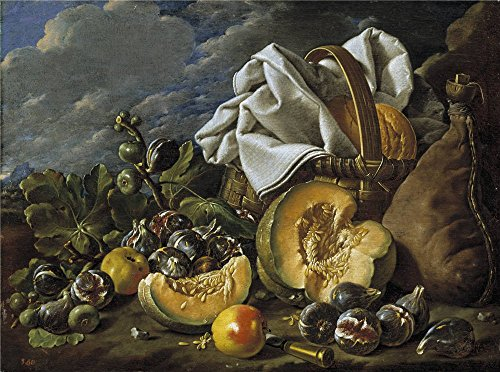 High Quality Polyster Canvas ,the Amazing Art Decorative Canvas Prints Of Oil Painting 'Melendez Luis Egidio Bodegon Calabaza Higos Bota De Vino Y Cesto Third Quarter Of 18 Century ', 12 X 16 Inch / 30 X 41 Cm Is Best For Dining Room Decor And Home Artwork And Gifts (3rd Stage Baby Food compare prices)