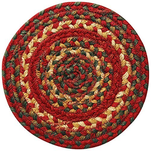 Homespice Round Trivet Jute Braided Rugs, 8-Inch, Cider Barn by Homespice