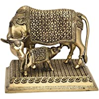 Unique Lovely Cow & Calf Caring Idol Handicraft Piece By Bharat Haat BH05578