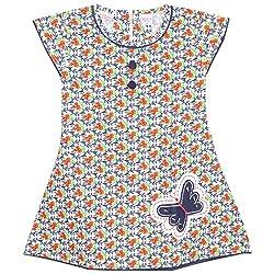 Rush Me Baby Girls' Dress (S.R.1001_4 Years, 4 Years, Red)