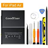 GoodFixer Replacement Battery Compatible with Apple iPad Air/iPad 5, Complete Repair Tools Kit, Adhesive Strip, 0 Cycle 8827mAh Li-ion Replacement Battery [365 Days Warranty] (Color: For iPad Air)
