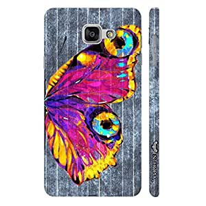 Enthopia Designer Hardshell Case Butterfly on a Grey Wall Back Cover for Samsung Galaxy A5(2016)
