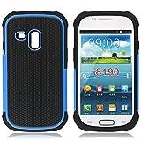Bracevor Triple Layer Defender Back case for Samsung Galaxy S3 mini i8190 (Blue)