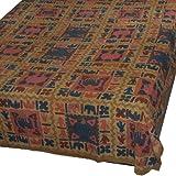 Cotton Bedspread Wood Block Print Coverlet Size Queen