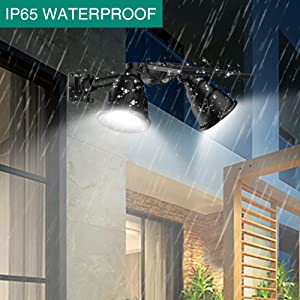 Solar Spot Lights, Outdoor 36 LED Landscape Lamps Double Head 1000 Lumens Bright Spotlight Waterproof Flood Lamp with Motion Sensor for Deck Yard Garden Garage Driveway (White - 2 Pack) (Color: White - 2 Pack)