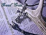 クロス ネックレス メンズ スプレッド イーグル ネックレス スクロール/ロンワンズ系 レナードカムホート系 レザーチョーカー