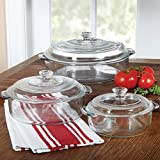 Libbey Round Covered Glass Casserole Set, 6 piece