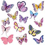 Wandkings WS-50002 Schmetterlinge Wandsticker Set, 14-Aufkleber, 2 DIN A4 Bögen, Gesamtfläche 60 x 20 cm