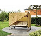 Outdoor 3 Triple Seater Hammock Swing Glider Canopy Cover All Weather Protection