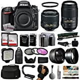 Nikon D750 DSLR Digital Camera with 18-55mm VR II + 55-300mm VR Lens + 128GB Memory + 2 Batteries + Charger + LED Video Light + Backpack + Case + Filters + Auxiliary Lenses + $50 Gift Card + More!