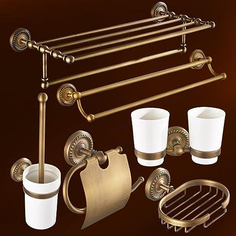 barra di tovagliolo antico/Bagno rame rack/Bagno portasciugamani di stile europeo/Bagno accessori hardware-J