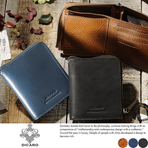 (ディカロ) Dicaro 隠れ迷彩柄ファスナー折り財布 Bellico メンズ 本革 イタリアンレザー 小銭入れあり キャメル