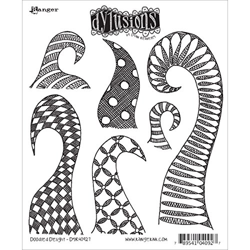 "Dyan Reaveley's Dylusions Cling Stamp Collections 8.5""X7""-Doodle Delight"