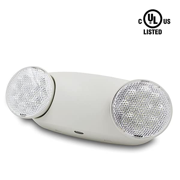 High Light Output for Hallways//Corridors//Stairways. Available in Damp Locations 120V//277V Input TORCHSTAR UL-Listed LED Emergency Light with Battery Backup White