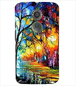 PrintDhaba PAINT ART D-7075 Back Case Cover for MOTOROLA MOTO X2 (Multi-Coloured)