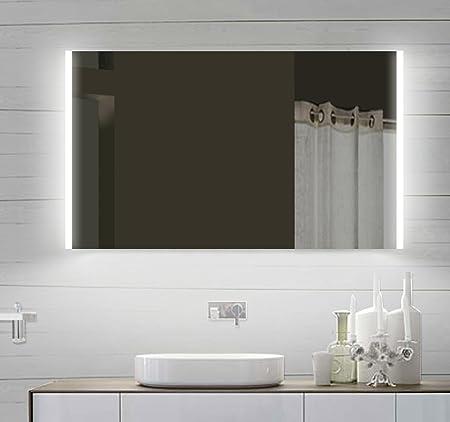 Design LED specchio da bagno specchio da bagno con illuminazione a LED 100x 60cm