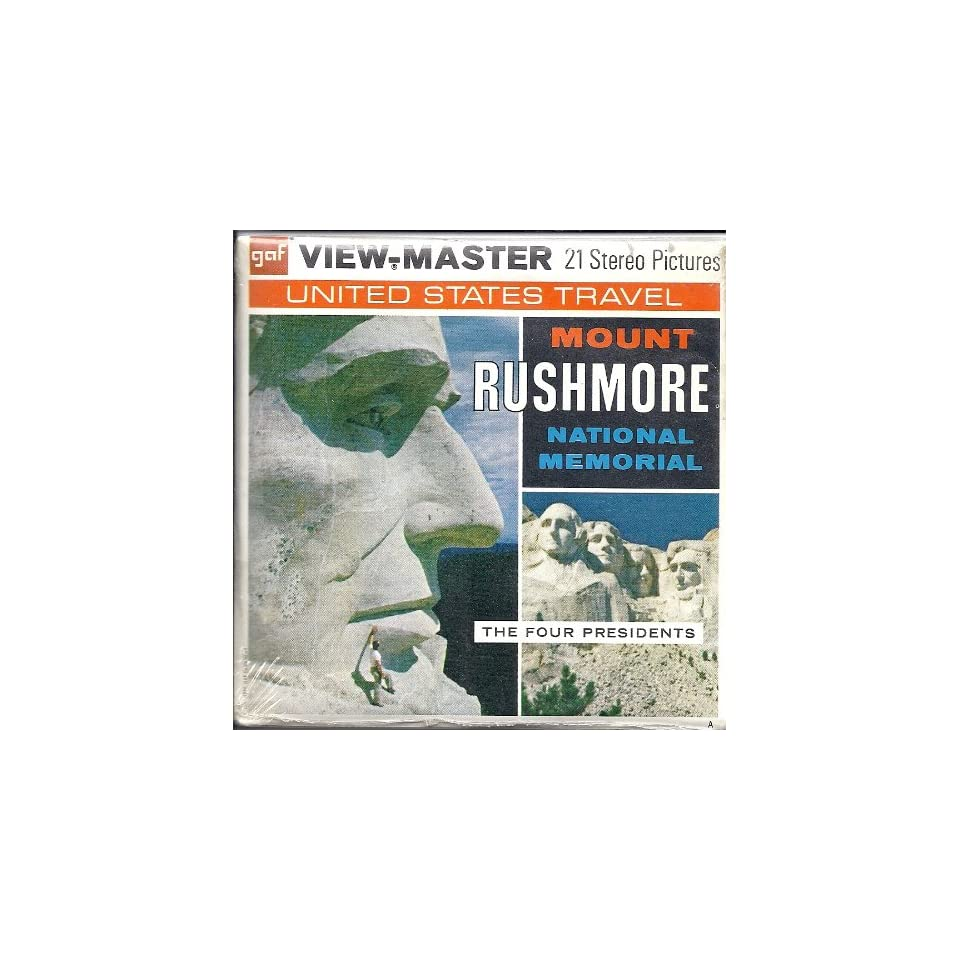 1960s Mount Rushmore South Dakota 3d View Master 3 Reel Packet