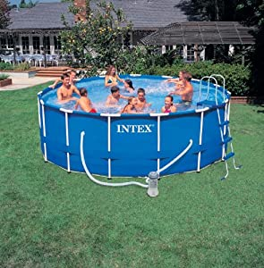 Intex 15ft diameter 48in deep frame pool with filter pump for Garten pool intex