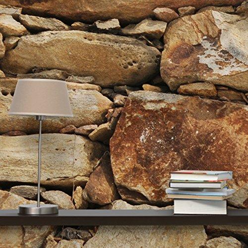 fototapete steintapete sandy stonewall vliestapete premium querformat tapete steinoptik. Black Bedroom Furniture Sets. Home Design Ideas
