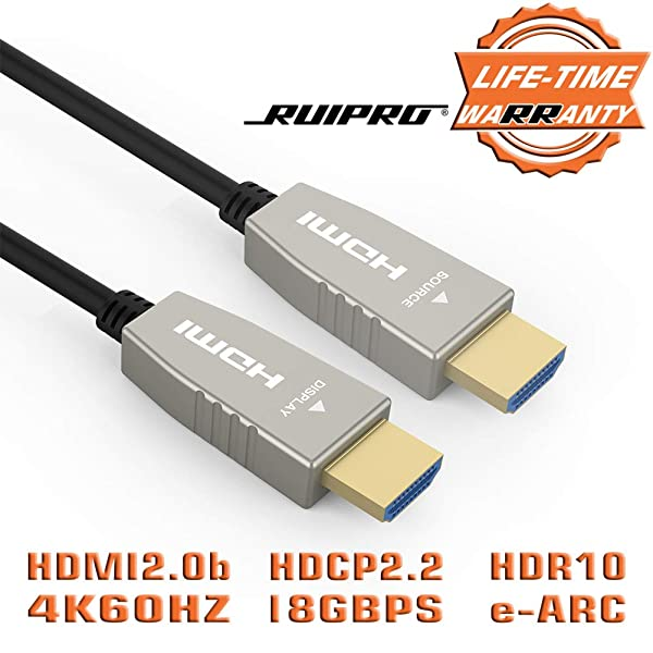 HDMI 2.0 Cable 4K 60Hz Fiber Optic HDMI Cable UHD High Speed 18Gbps 4:4:4 lot