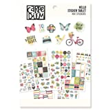 Carpe Diem by Simple Stories A5 Sticker Tablet Hello (Color: Multicolor)
