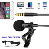 BMBZON Lavalier Microphone,Omnidirectional Lapel 3.5mm Microphone for Apple IPhone Andriod & Windows Smartphones,Youtube,Interview,Studio,Video Record