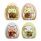 Aimeio Super Cute Cartoon Animals Transparent PVC Stickers for Diary Calendar Albums Decoration Scrapbook Planner Journal Child DIY Toy School Office Supplies,4 Pack (Color: Sheep+Fox+Dog+Lion)
