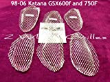 1998-2006 Suzuki Katana GSX 600F 750F Chrome Fairing Grills Screens Vents Mesh