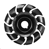 90mm Grinder Shaping Disc 16mm Bore 12 Teeth Manganese Steel Wood Carving Disc for 100 115 Angle Grinder Woodworking (16mm Bore) (Color: Black, Tamaño: 16mm Bore)