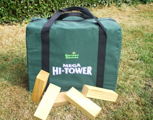 Garden Games Mega Hi-Tower in A Bag - Giant 0.9m - 1.5. Wooden Tower Block Game