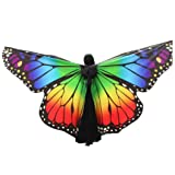 MChoice Egypt Belly Wings Dancing Costume Butterfly Wings Dance accessories No Sticks (Multicolor) (Color: Multicolor, Tamaño: Size: Free Size)