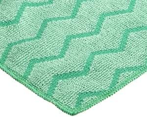 "Rubbermaid Commercial FGQ62006GR00 Hygen Microfiber General Purpose Cloth, 16"" Length x 16"" Width, Green"