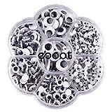 eBoot 700 Piezas Stick Wiggle Eye Ojos Movibles Ojos Saltones con Autoadhesivo DIY Scrapbooking Crafts Accesorios de Los Juguetes, Tamaños Surtidos