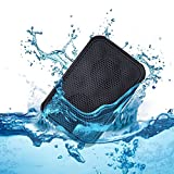 Ivation Water Resistant Shockproof Bluetooth 4.0 Speaker w/IPX7 Waterproofing for Full Immersion in Water, Handsfree Portable Speakerphone with Built-in Mic, 6hrs of playtime, Control Buttons - Enjoy Your Music & Phone Calls in True Stereo - Rugged, Shockproof Enclosure & Integrated Buttons (Orange)