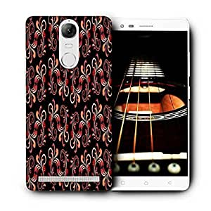 Snoogg Red Abstract Black Pattern Printed Protective Phone Back Case Cover For Lenovo K5 Note