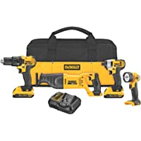 DEWALT DCK420D2 4-Tool 20-Volt Motor Lithium Ion Cordless Combo Kit - Manufacturer Refurbished