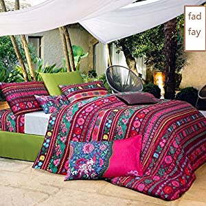 fadfay bohemian style bedding bohemian duvet covers boho bedding set queen size. Black Bedroom Furniture Sets. Home Design Ideas